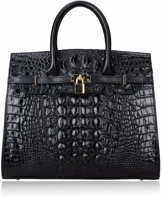 28814a4d20 Luxurious New Women's Crocodile Embossed Handbag Real Leather Shoulder Bag  Tote
