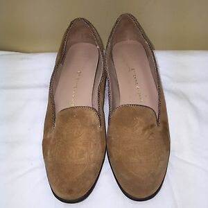 Women's Talbots Brown Leather Loafers Flats Shoes Size 6M
