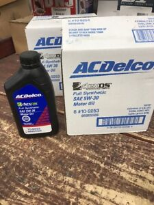 GM-AC-Delco-Set-of-6-Motor-Oil-6-QT-33-oz-SAE-5W-30-Full-Synthetic-Dexos-1-OES