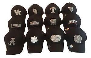 NCAA-Black-Mesh-Cap-Snapback-Hat-Ohio-State-Buckeyes-Florida-State-FSU-Seminoles