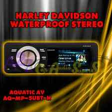 AQUATIC AV AQ-MP-5UBT-H HARLEY DAVIDSON BLUETOOTH REPLACEMENT RADIO FITS 98-2013