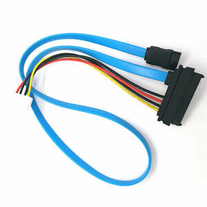 Cable-Adapter-New-SAS-Blue-Hard-Drive-Adapter-Cord-Cable-SCSI-SFF-8482-to-SATA