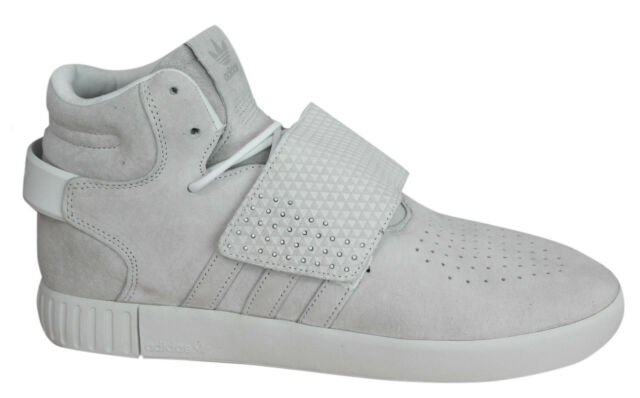 af4ae3145e09 Adidas Tubular Invader Strap Mens Trainers Lace Up Leather Suede BB5038 Opp  M10