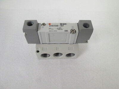 NEW** SMC SYA7240-03T 5-Port Air Operated Valve (Base Mounted), 3 ...