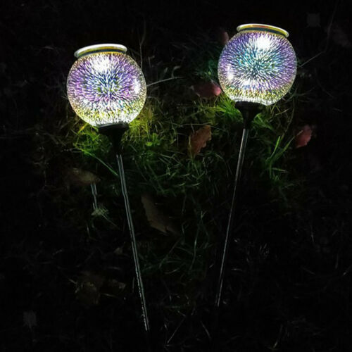 Solar Colorful Ball Stake Lamp Decor Waterproof for Outdoor Garden Path Lawn