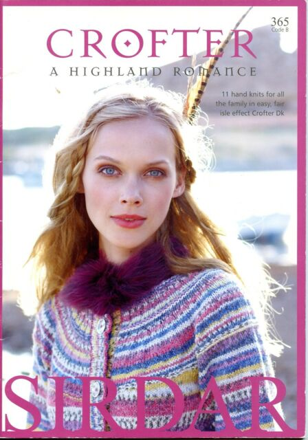 Sirdar Knitting Pattern Book 365 Crofter A Highland Romance Men