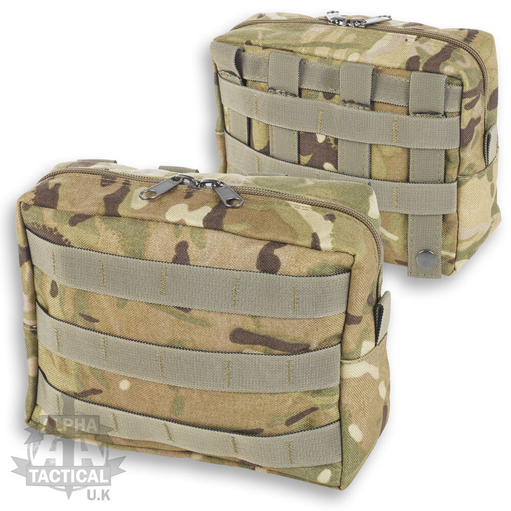 MTP MULTICAM MOLLE HORIZONTAL UTILITY POUCH BRITISH ARMY WEBBING