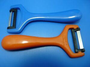 2-X-Eplucheur-Couteau-econome-Diabolo-avec-Lame-Inoxydable-Solingen-Couleur