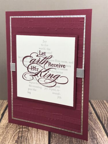 Stampin/' Up Christmas card kit Religious Let Earth Receive Her King Star