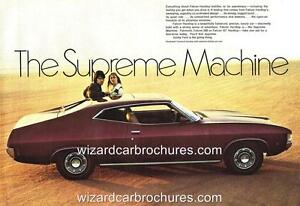 1972 FORD XA FAIRMONT HARDTOP A3 POSTER AD SALES BROCHURE ADVERTISEMENT ADVERT