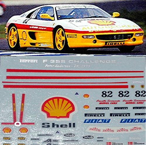 Ferrari F 355 Shell Challange 1999 #82 1:18 Decal Abziehbild