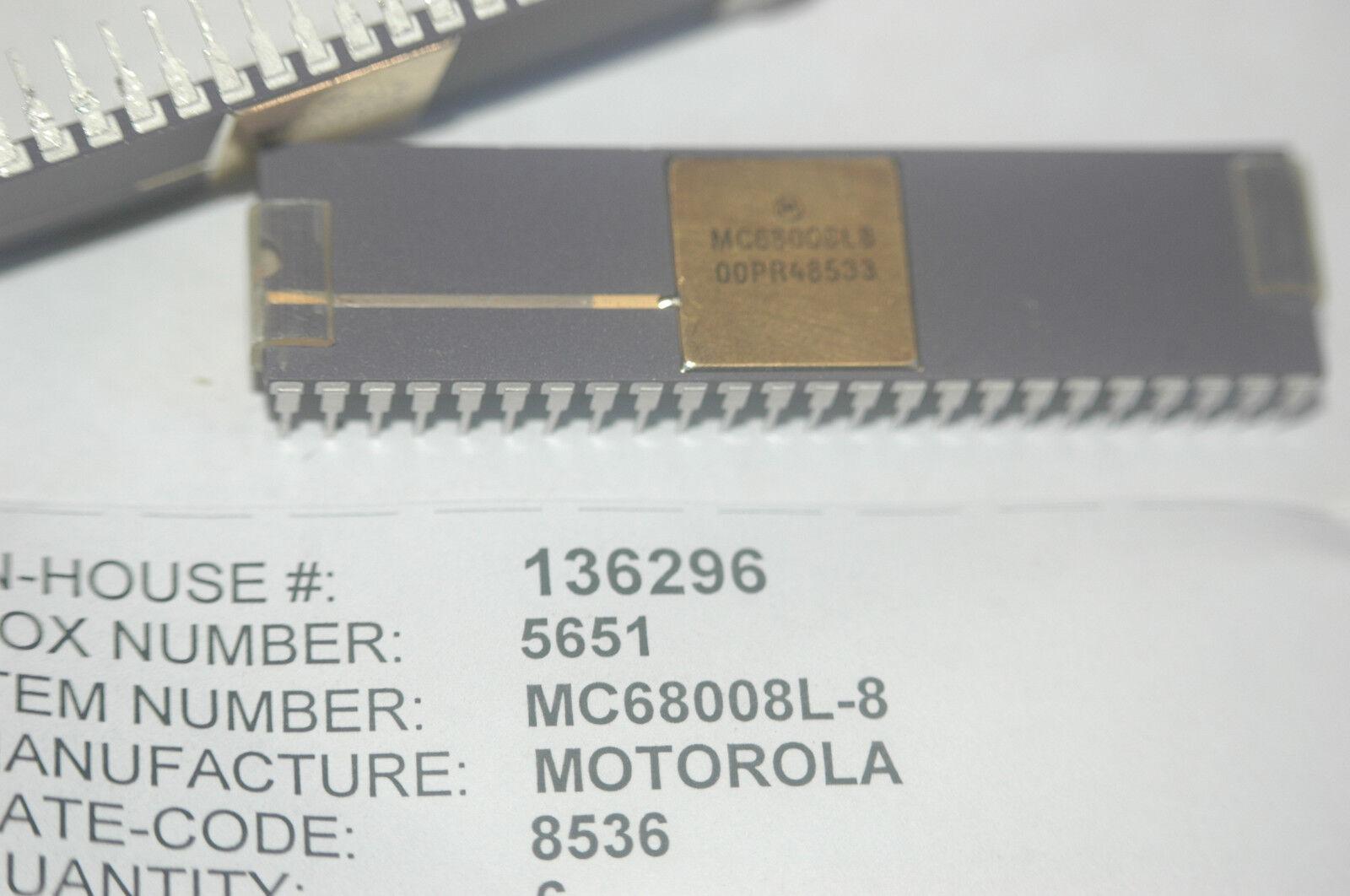 1 x MC68008P8 MC68008 16-Bit Microprocessor DIP-48