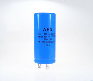 100uf+100uf-50<wbr/>0vdc ARS Dual Blue Caps Replaces Marshal F&T JJ LCR HiWatt VOX