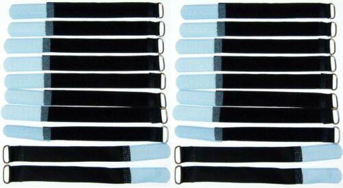 20x kabelklettband 16 cm x 16 mm Hell Bleu Velcro Velcro Serre-câbles Bande œillet