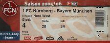 TICKET 2005/06 1. FC Nürnberg - Bayern München