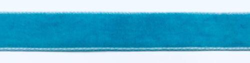 "110 Yards TRIMPLACE 5//8/"" Copen Blue Velvet Ribbon"