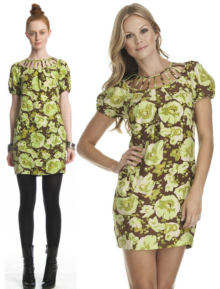 275 Frock By Tracy Reese Fresh Twenties Floral Silk Cut Out Dress