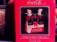 Coca-Cola-6 Pack Of Bottles`1991`Things Go Better Coke,Enesco Christmas Ornament
