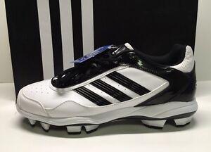 NEW-Adidas-Women-039-s-Abbott-Pro-TPU-2-Molded-Softball-Cleats-Size-12-White-Blk