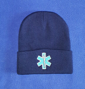 Image is loading Star-of-Life-embroidered-EMS-EMT-Stocking-cap- 1e257df31fd
