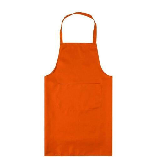 Plain Apron Front Pocket Chefs Butchers Home Kitchen Cooking Craft Baking Bib 0A