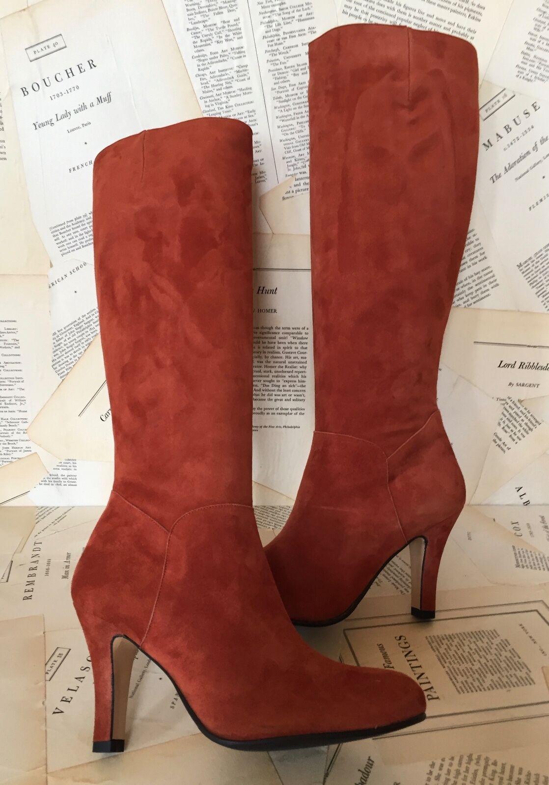 per offrirti un piacevole shopping online NIB Lenora rust Suede Tall Knee Side Zipper Zipper Zipper stivali high heel 39  articoli promozionali