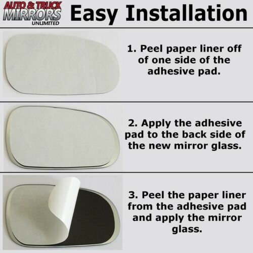 Safari Van Driver Sid Mirror Glass Replacement Full Adhesive For 99-05 Astro