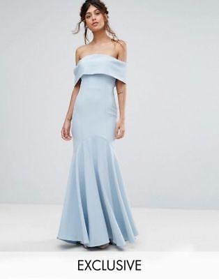 JARLO vente Bandeau Bleu Marine Mariage Demoiselle d/'honneur Robe Longue UK 6 8 10 RRP £ 85