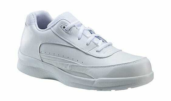 Apex Men's Ambulator Lace Active Walker White Leather Sneakers