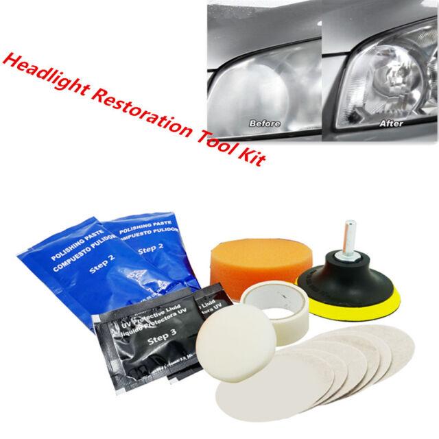 Car Suv Headlight Headlamp Lens Restoration Plastic Polishing Buffing Tool Kit