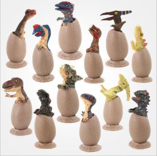 Jurassic World Dinosaur Plastic Action Toy Figures Model Semi-hatching Eggs
