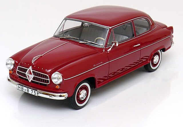 1955 Borgward Isabella Limousine Dark rosso by BoS Models LE of 1000 1/18 Rare