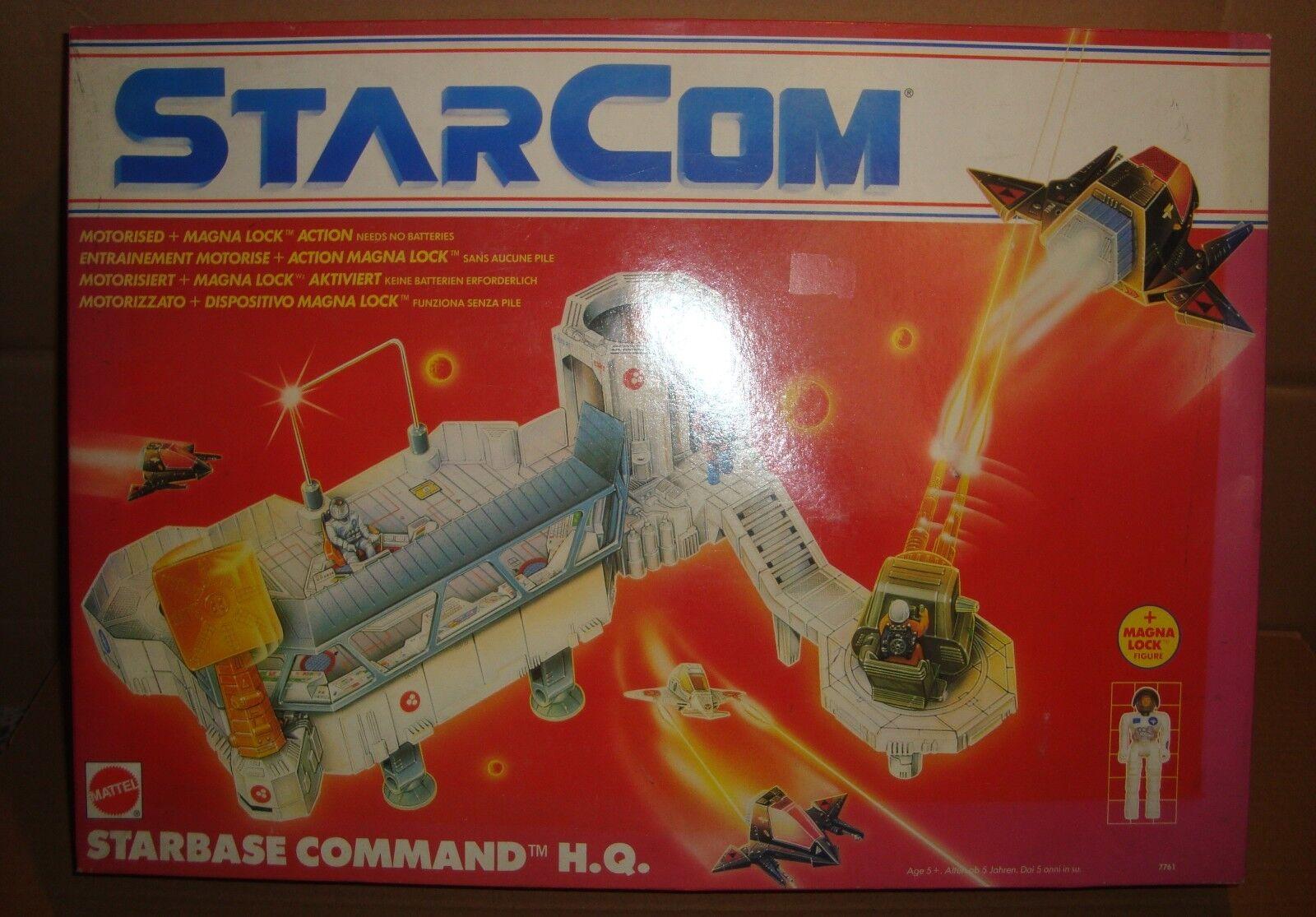 estrellaCOM THE U.S. spazio FORCE estrellaBASE COMuomoD H.Q. HEADQUARTERS MATTEL 1990
