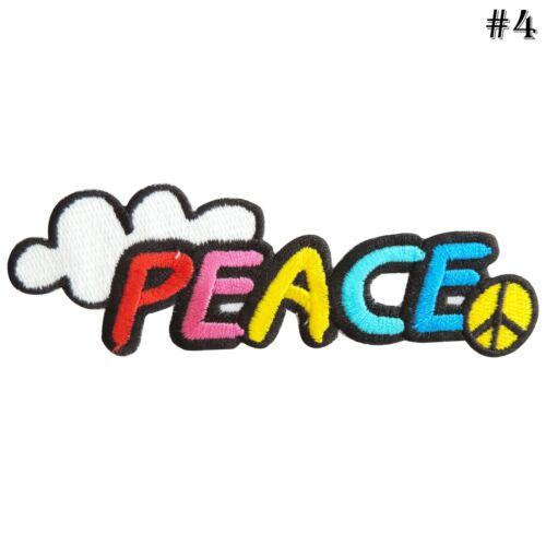 PEACE LOVE dimanche Tournesol Fleur Happy années 70 Hippie Boho iron on patches #10