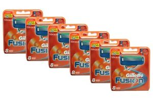 48x-Gillette-Fusion-Klingen-6x-8-Pack-Set-Gilette-Gillete-Gilete-razor-blades