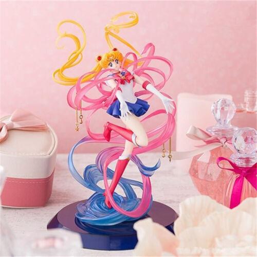 "Sailor Moon Tsukino Usagi Moon Power 9.8/"" Anime Figure Figurine Statue NB"