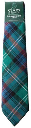 Sutherland Old Ancient Clan 100/% Wool Scottish Mens Tartan Tie