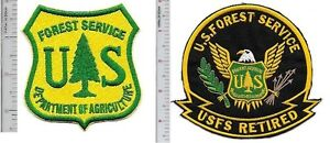 US-Forest-Service-USFS-Hotshot-Wildland-Fire-Crew-amp-USFS-Retired-Patch-gr-on-y