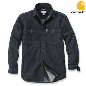 CARHARTT-Uomo-Camicia-Maglioncino-Rugged-FLEX-Patten-Denim-Shirt-Camicia-jeans-S-XXL