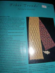 Fiber trends knitting pattern felt oak leaf acorn scarf ebay image is loading fiber trends knitting pattern felt oak leaf amp dt1010fo