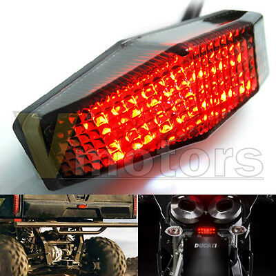 Smoke LED Running Stop Brake License Plate Tail Light Lamp Motorcycle For Yamaha