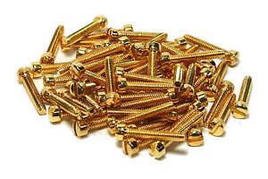Humbucker-P90-Fillister-Pole-Screws-Gold-plated-Qty-60