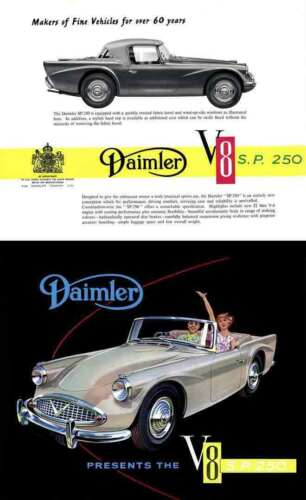 SP250 Daimler Presents the V8 Daimler SP250 1960