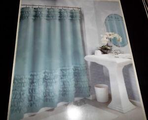 Image Is Loading Harlow Ruffle Shower Curtain 72 034 X