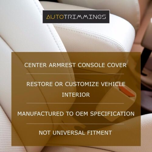 Center Console Armrest Leather Synthetic Cover for Ford Focus 08-11 Black