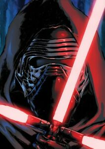 kylo ren - star wars ep 7 han solo - limited edition a3, a4 print - autographed | ebay