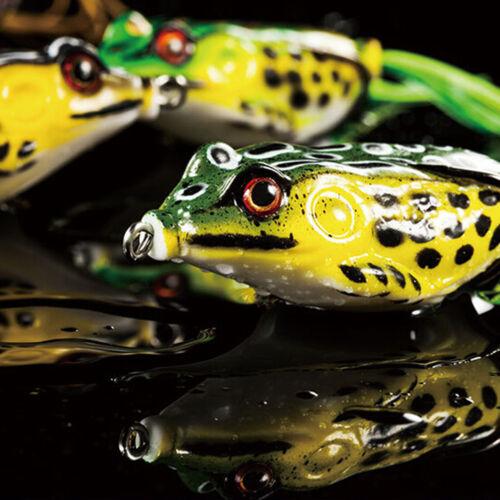 1X Netter Frosch Topwater Fischen-Köder Crankbait Haken Bass-Köder-Gerät-7color