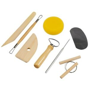 8 Pezzi Clay Scultura Ceramica Strumenti Arte Progetti Incisione Kit Set Spugna