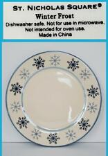 """St Nicholas Square WINTER FROST BLUE Dinner Plate 10 7//8/"""" 1 ea       2 available"""
