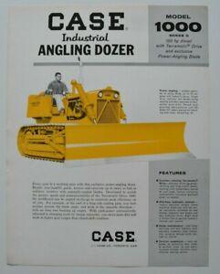 CASE-Angling-Dozer-1000-1960s-dealer-sheet-brochure-catalog-English-Canada